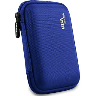 Gizga Essentials External Hard Drive Case for 2.5-Inch Hard Drive - Double Padded (Blue)