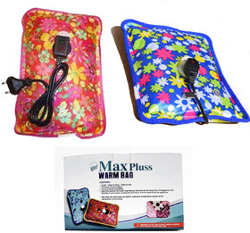 Buy 1 Get 1 Free Max Pluss Electric Heating Gel Pad Hot Water Bag for Joint/Muscle Pains (Multicolors)