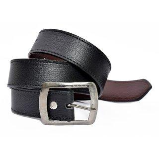 Hdecore Black Belt For Men (Synthetic leather/Rexine)