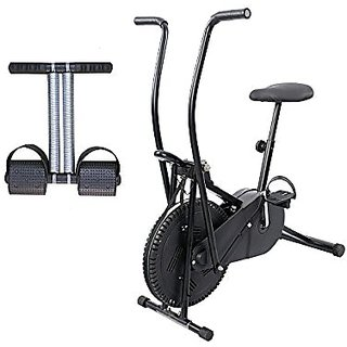 Lifeline Exercise Air Bike for Weight Loss at Home Bonus Tummy Trimmer for Stomach Exercise
