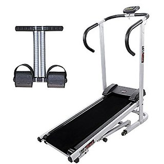 Lifeline Treadmill Machine for Walking and Running at Home Bonus Tummy Trimmer for Stomach Exercise