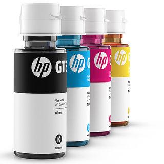 InkJet HP GT51 GT52 4 Color Set Genuine Official Original Ink Bottle For GT  5820 5810 Multi Color Ink (Black, Magenta, Yellow, Cyan)