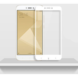 Tempered Glass For Redmi max 2 Full Screen White Colour
