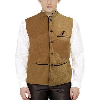 Men's Modi Jacket / Nehru Jacket Brown Color New Fashion Winter Jacket Lowest Price For Party Wear