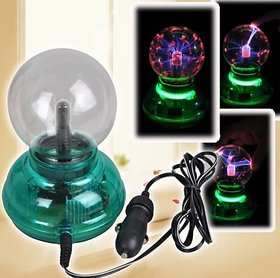 Magic Plasma Ball Crystal Neon Sphere Negative Ion Generator Car Interior Light Gift Set