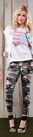 Ladies leggings/winter leggings/Women Camouflage leggings/Warm leggings/Tights  Military women leggings