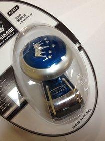 METAL PRIME DELUXE POWER HANDLE STEERING WHEEL SPINNER KNOB  MADE IN KOREA - BLUE