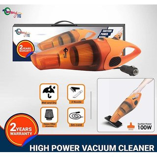 myTVS 12v High Power Wet  Dry Car Vacuum Cleaner 2 Yr Warranty