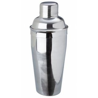 Godskitchen 500ml - Stainless Steel 3 Pieces Deluxe Cocktail Shakers with Built in Strainer Martini Shaker Mirror Finish Bar Set