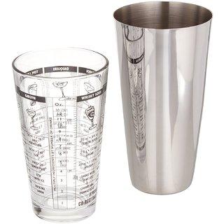 Godskitchen 28 Oz - Boston Cocktail Shaker with 16 Oz - A Recipe Glass