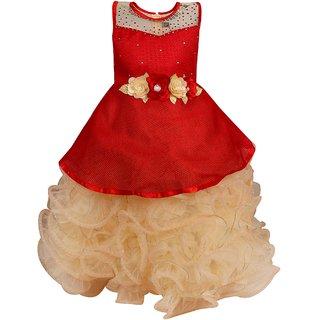 de77e748c Buy Arshia Fashions Girls Party Wear Frock Scuba Dress Ball Gown ...