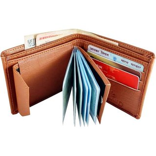 Wildantler Men Tan Artificial Leather Wallet (9 Card Slots)