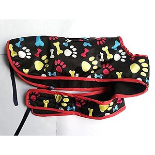 Dog Coat 16 inch in length printed for small pups, pugs,  pom Good for winter