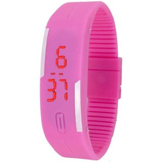 skmei pink led watch for girl women