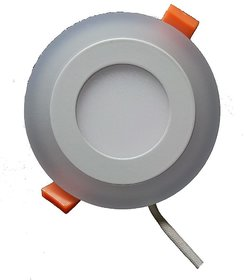 Snap Light 6w Double Colour Round White Blue 3 Step LED Panel Light