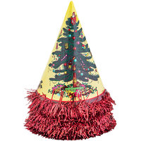 Enjoy Red Christmas Papper Cone Cap (Pack Of 5)