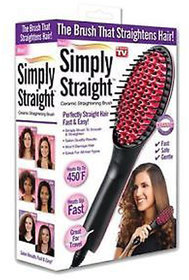 Hair Styling Tools - Simply Straight Ceramic Hair Straightening Styling Brush First Time In India