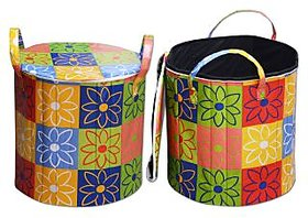 Dreams Home Round Shape Foldable Laundry Bagmmulti flower