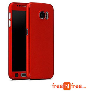 SAMSUNG GALAXY J7 PRIME 360 Degree Full Body Protection Front Back Case  Cover (iPaky Style) -Red