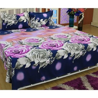 beautiful velvet bedcover pack of bedsheet with two pillow cover