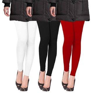 Pack of three Multi colour woolen leggings