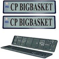 Cp Bigbasket High Security Frame Folding Car Number Plate  (Plastic 54 cm x 15 cm)