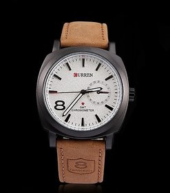 CURREN White Casual Wrist Watch For Mens By KK Sales