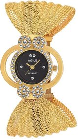 Agile Round Dial Silver Other Analog Watch For Women