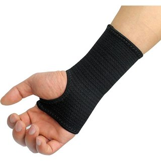 Cp Bigbasket Weight Lifting Palm Wrist Support Gloves (Pack of two) Palm Support (Free Size Black)