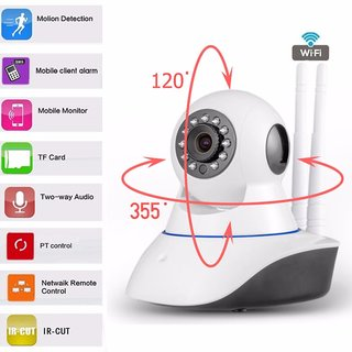 IP camera wifi with Dual antenna Night vision Motion detect Security/CCTV Camera Stream Live video on mobile laptop