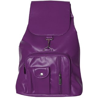 Purple Color Stylish/Trendy Non Leather Back Pack Bag.