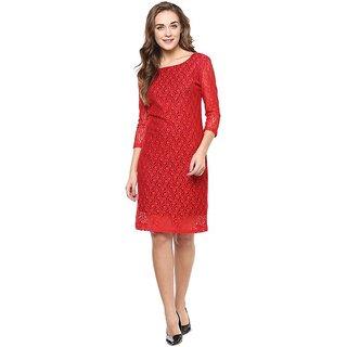 Red swirl dress