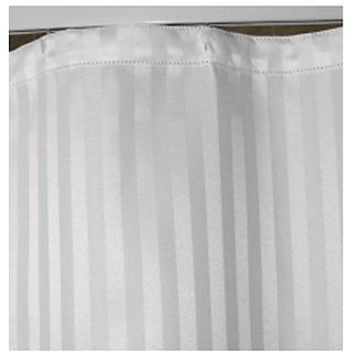 White Stripe Shower Curtain