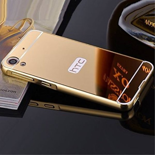 online store ee3cd 80a60 ITbEST New Mirrror Back Cover Gold For HTC Desire 826 Mirror Case Metal  Frame + Mirror PC Back Cover For HTC Desire 826 Mobile Phone cover