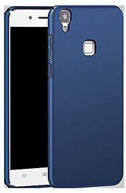 DOT Ipaky 4 cut All Sides Protection 360 Degree Sleek Rubberised Matte Hard Case Back Cover For Vivo V3 - Blue