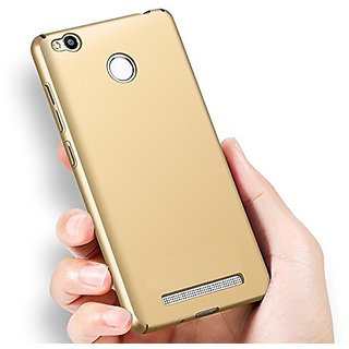 3e64ff83bdc84e SSS Ipaky 4 cut All Sides Protection 360 Degree Sleek Rubberised Matte Hard  Case Back Cover For Redmi 4A - Gold