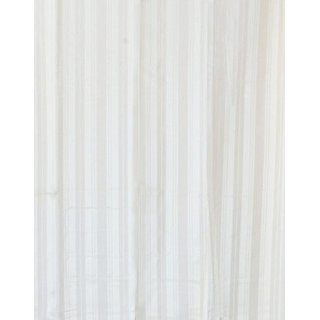 Shower Curtain White Stripes Jacquard 72 X 80 Inches