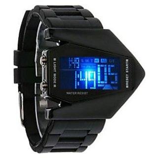 NG Black Digital LED Rocket Watches for Men