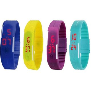 NG NEW Led Magnet Band Digital Watch - For Men Women Only 1 Colour Piss (Colour May Very Very)