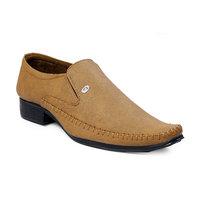 Baton Men's TAN Formal Slip On Shoes