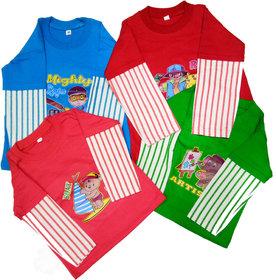 Boys Lined Full Sleeves T-Shirt Set Of 4