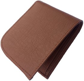 Men Casual Brown Genuine Leather Wallet