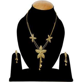 Bhagya Lakshmi Traditional LCD Star Look Pendent Necklace Set For Women