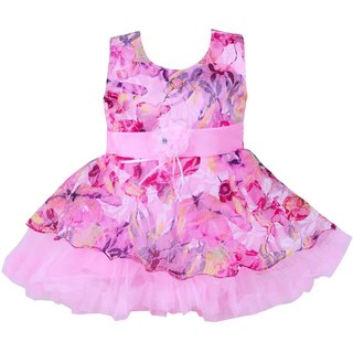 Kids Girl Frock Dresses Party Wear For Baby Girls(3-6 Months)