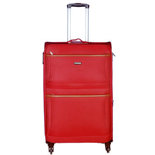 Times Bags Stylish Hard Shell Expandable Red Color Trolley Bag ST-350