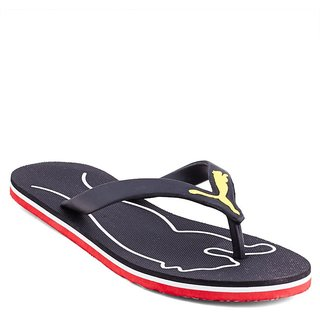 b0f7d29712c5 Buy Puma Men s Black and Red Flip Flops Online - Get 55% Off