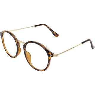 Zyaden Brown Round Eyewear Frame 418