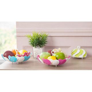 Rewa Kitchen Multipurpose Lotus Shape Foldable Vegetable And Fruit Basket Storage