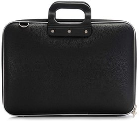 Home Story Stylish  Unisex Hard Shell Briefcase Laptop Bag 15 with Strap, Black
