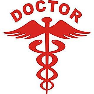 Doctor Logo Vinyl Sticker / Decal For Cars / Bike / Helmet / Car Sticker (Red Colour)